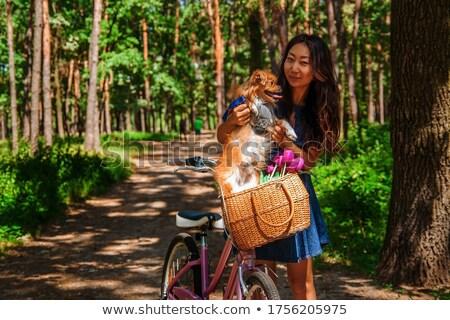 patient young women_road bike Stock photo © toyotoyo