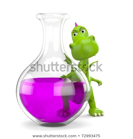 Cartoon folle scientifique marche illustration homme Photo stock © cthoman