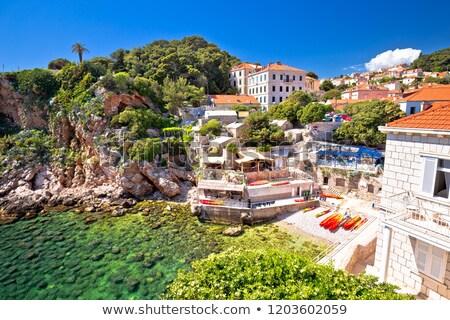 Dubrovnik turquoise plage au-dessous vue Photo stock © xbrchx