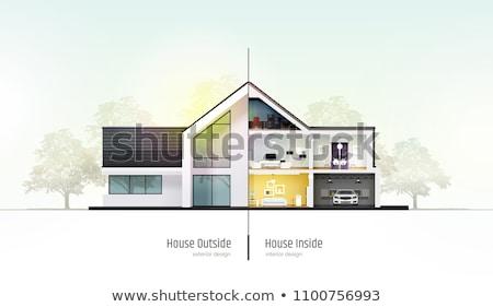 bois · chalet · 3D · design · illustration · fond - photo stock © robuart