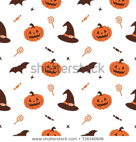Halloween seamless pattern design, postcard Stock photo © lemony