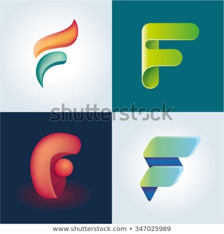 Stock photo: Logo F Green Letter F Vector Icon Sign Design