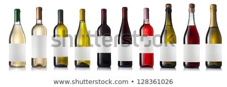 набор различный бутылку вина иллюстрация вино закрывается Сток-фото © bluering