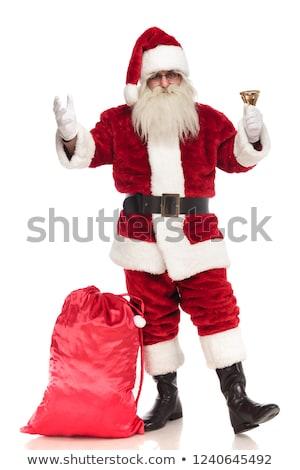 Дед Мороз Постоянный мешок ногу кольцами колокола Сток-фото © feedough