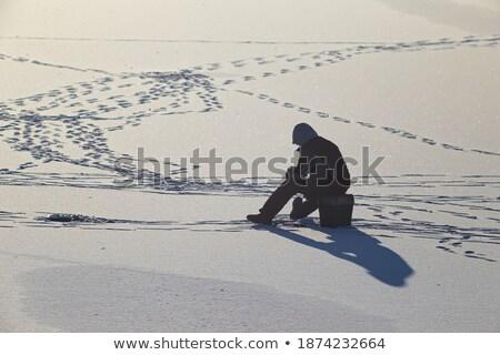 Sessão pescador pescaria verão inverno teia Foto stock © robuart
