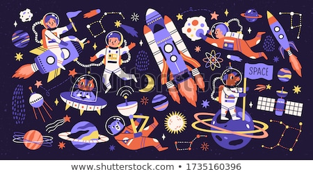 A dog exploring in space Stock photo © colematt