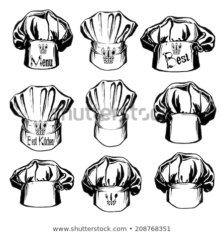 Utensil and Hat of Chef Vector Icon, Cartoon Style Stock photo © robuart