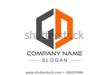 手紙 幾何学的な 六角形 ロゴ アイコン シンボル ストックフォト © blaskorizov