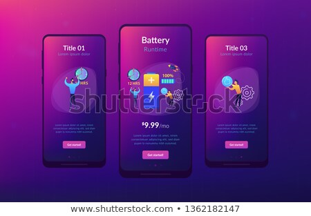 Battery runtime app interface template. Stock photo © RAStudio