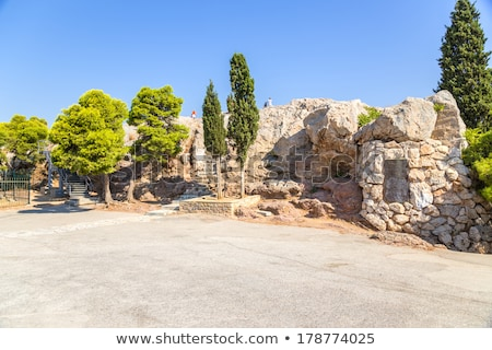 Rock Athene Griekenland Stockfoto © fazon1