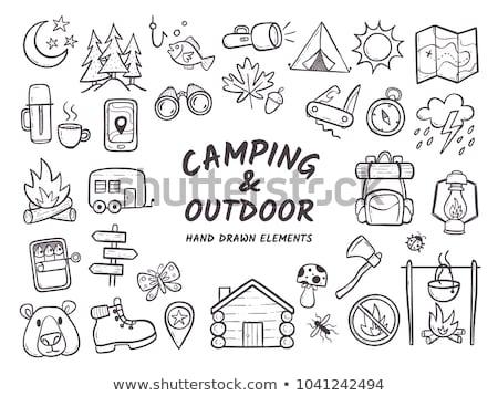 hiking boot hand drawn outline doodle icon stock photo © rastudio