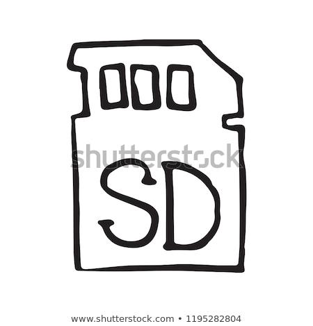 memory sd card hand drawn outline doodle icon stock photo © rastudio