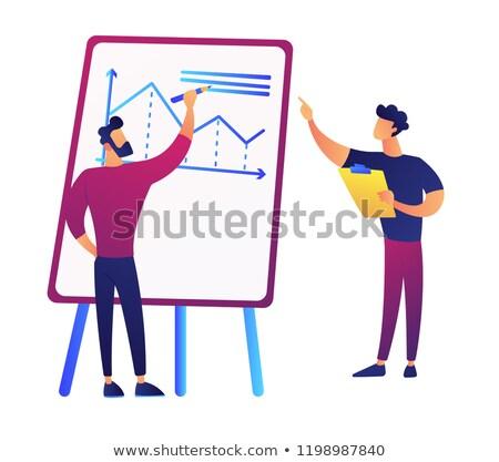 ビジネス · コーチング · チームリーダー · 従業員 · プロモーション - ストックフォト © rastudio