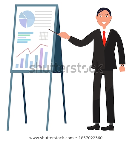 Presenter Showing Charts Icon Vector Illustration Stock photo © robuart