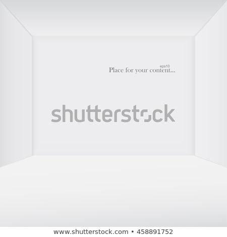 ストックフォト: 白 · コピースペース · 類似した · 3D · ルーム · eps10