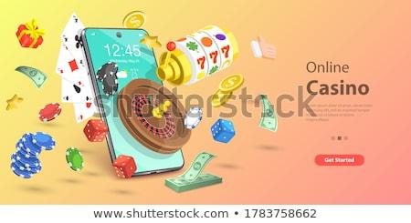 カジノ · アイコン · 実例 · セット · 孤立した · 白 - ストックフォト © netkov1
