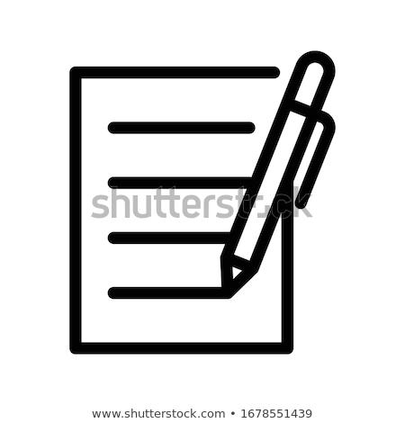 Ingesteld kantoor papieren geïsoleerd icon contract Stockfoto © robuart