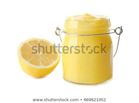 nyami · citrom · friss · citromok · szürke · beton - stock fotó © YuliyaGontar