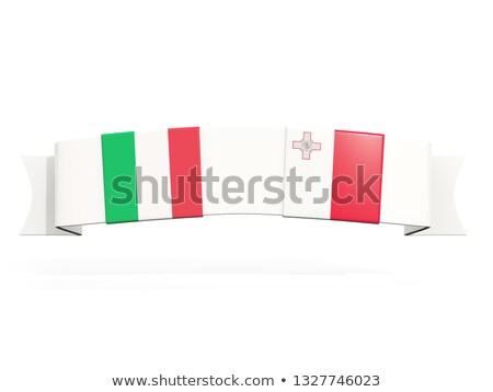 bandera · Malta · Europa · país · tela · textiles - foto stock © mikhailmishchenko