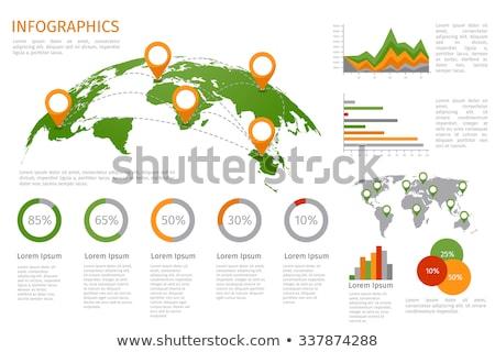Wereldkaart wereldwijd infographics gegevens vector Stockfoto © robuart