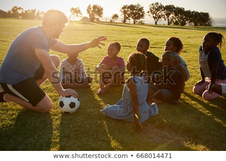 Soccer physical education lesson Stock photo © matimix