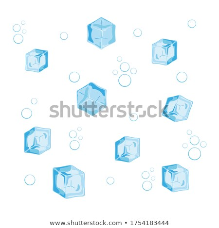 Cubo de hielo aislado vector azul hielo agua Foto stock © pikepicture