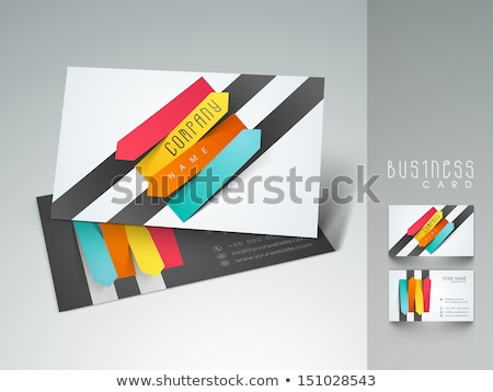 abstract colorful stripes business card design Stock photo © SArts