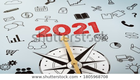 a compass with text and icons   solution stock photo © zerbor