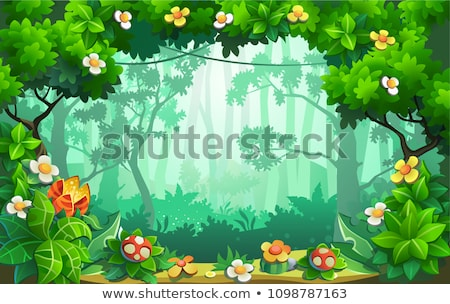 Fairy tale forest background Stock photo © colematt