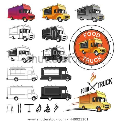 食品 · トラック · ベクトル · テンプレート · 車 · ブランド設定 - ストックフォト © netkov1