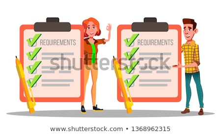 Requirements, Checklist, Schedule, Compliance Vector Drawings Set Foto d'archivio © pikepicture