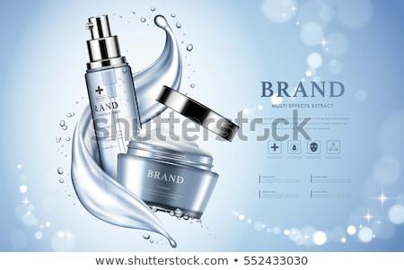 ベクトル 青 化粧品 包装 孤立した 白 ストックフォト © dashadima