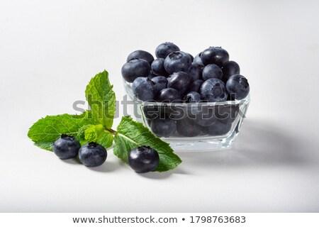 fresco · framboesa · sobremesa · de · servido · branco - foto stock © melnyk