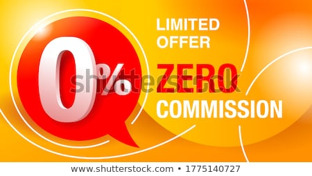 Nul procent marketing vector business Stockfoto © pikepicture