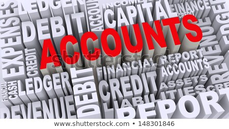 3D illustration of the word Account  Stock photo © Spectral