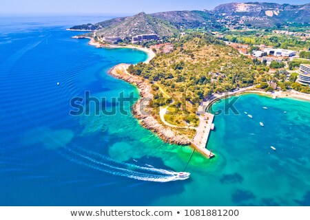 Adriatic coast view in Srebreno and Mlini bay Stock photo © xbrchx