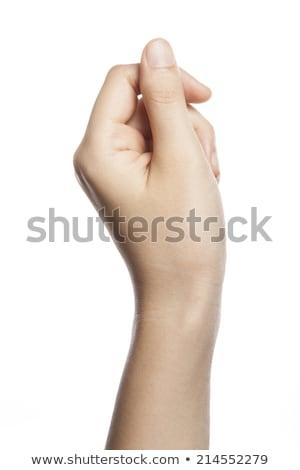 Papier geld vrouwelijke hand witte geïsoleerd Stockfoto © OleksandrO