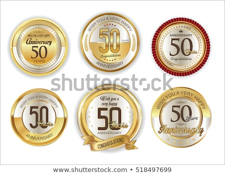 Stock photo: Golden jubilee or anniversary