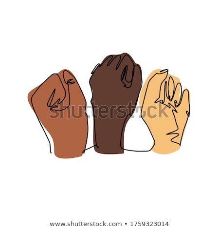 color man hand clenched finger in fist gesture vector stock photo © pikepicture