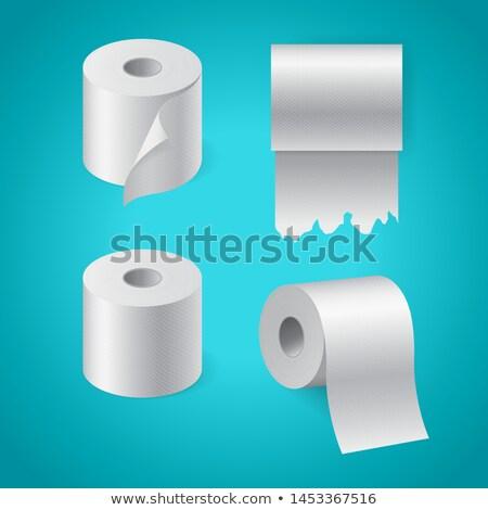 Realistisch papier rollen ingesteld keuken Stockfoto © MarySan