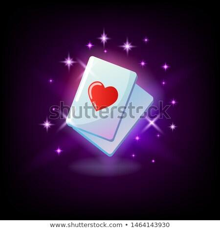 Aas harten Rood hart pak kaart Stockfoto © MarySan