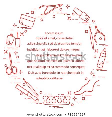 Pedicure manicure servizio manifesti set vettore Foto d'archivio © robuart