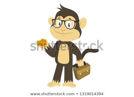 Cartoon gorilla with a briefcase Stock photo © bennerdesign
