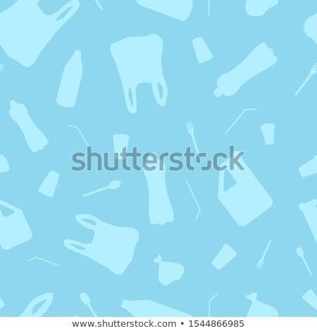 Wektora plastikowe obiektów stop ocean Zdjęcia stock © user_10144511