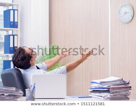 бизнесмен отсутствующий крайний срок служба компьютер часы Сток-фото © Elnur