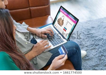成熟した · カップル · ショッピング · を · ノートパソコン · 幸せ - ストックフォト © andreypopov
