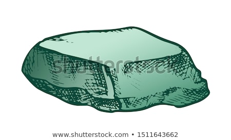 Stone Cobble Boulder Smooth Top Color Vector Stock photo © pikepicture