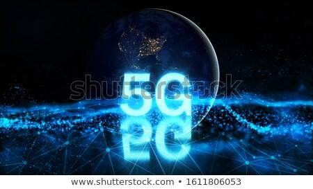 新しい · 技術 · ワイヤレス · インターネット · 接続 · ビジネス - ストックフォト © sarts