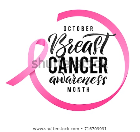 woman and symbol of breast cancer awareness stock photo © choreograph