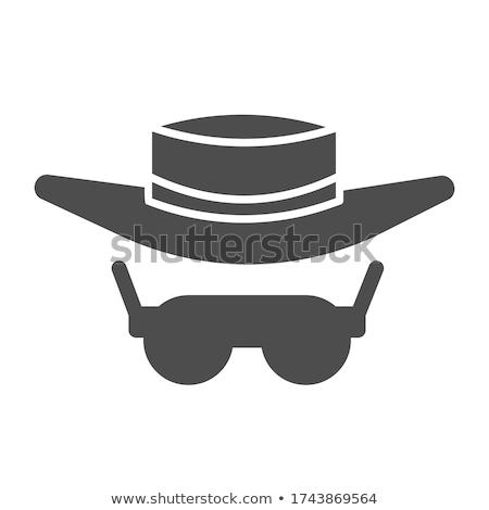 Güneş korumalı adam ikon vektör Stok fotoğraf © pikepicture